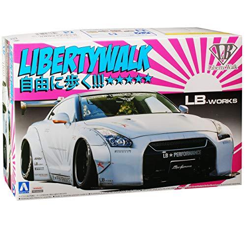alles-meine.de GmbH Nissan Skyline R35 GT-R LB-Works Liberty Walk Weiss 54031 Nr 10 Kit Bausatz 1/24 Aoshima Modell Auto (Model Nissan Kit Auto)