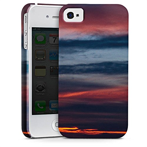 Apple iPhone X Silikon Hülle Case Schutzhülle Sonnenuntergang Himmel Wolken Premium Case glänzend