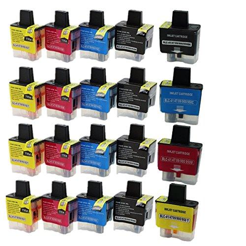 ffeec1374 No-Name Ersatz 20 Pack 5 Set LC09 LC41 LC47 LC900 LC950 Patronen für  Brother 340CW MFC 210 C 215 C 410 CN 420 CN 425 CN 610 CLN 610 CLW Inkjet  Drucker (5 ...