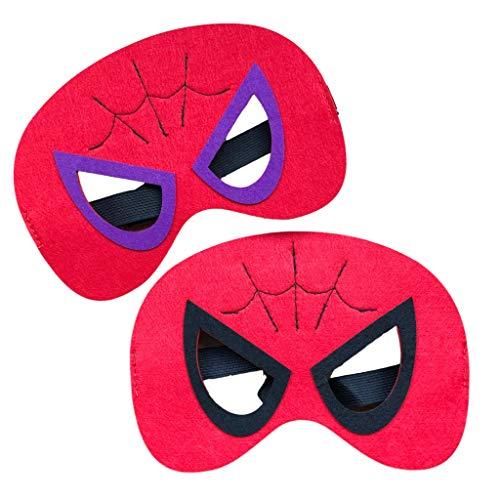EKNA Augenmaske Maske Filzmaske für Augen - Superhelden Design - Spiderman m/w - 30x Fasching Kostüm Verkleidung Maske