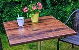 Unbekannt VARILANDO® 80x80 cm Tischplatte aus Werzalit in drei Farben zur Wahl Gartentisch-Platte (Eiche antik)