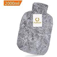 Preisvergleich für FUMUM Premium Wärmflasche mit Bezug, Weich Wärmflasche Klassik 2L mit Plüsch-Bezug,kein Geruch und Frei von Schadstoffen...