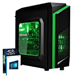 VIBOX FX-6 - Ordenador de sobremesa gaming (USB, AMD, RAM de 8 GB, disco duro de 1 TB, 3.5 GHz, Windows 10 Home) color verde