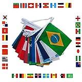 Fahnentuch des Fußball-World Cups 2018, 9 m lang, 14 x 21 cm, mit 32 Nationalflaggen, 14*21cm/9m