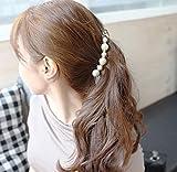 JXY Simulated Pearl Hairpins Hair Banana Clip Headwear for Women Jewellery