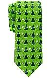 Retreez Herren Schmale Gewebte Weihnachten Krawatte Weihnachtsbaum 6 cm - grün, Weihnachtsgeschenk