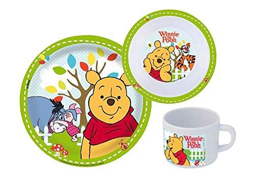 p:os 68934 Disney Winnie the Pooh Frühstücksset, Teller, Schale und Becher, - Band Pooh Winnie The