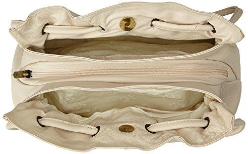 """Schultertasche Leder """"Othello"""" von Gigi - GRÖßE: B: 27-32 cm, H: 24 cm, T: 8 cm Elfenbein (Crème)"""
