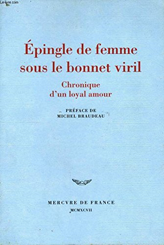 Epingle de femme sous le bonnet viril