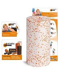Faszienrolle Blackroll Orange MED (Das Original) – Massagerolle für die Faszien mit Anleitung, Übungs-DVD, Übungsposter