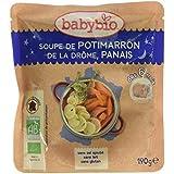 Babybio Sachet Soupe de Potimarron de la Drôme/Panais 190 g - Lot de 6
