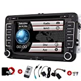 Doppel 2din Autoradio für VW Volkswagen Eincar 7inch GPS Autoradio mit GPS Navigation CanBus FM AM Autoradio Bluetooth in Dash HD 1080P Auto-DVD-Player + TV + GPS Map-Karte