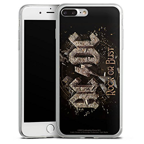 Apple iPhone X Slim Case Silikon Hülle Schutzhülle ACDC Merchandise Fanartikel Rock or Bust Silikon Slim Case transparent
