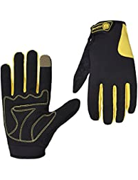 Morethan Smart Touch gloves Windstopper Sporting Gloves For Biking Running Driving Climbing (Amarillo, M)