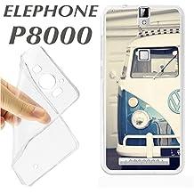 J248 ELEPHONE P8000 P 8000 CARCASA FUNDA TPU VAN VW CLASSIC CARAVANA