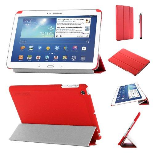 altbare Hülle für mehrere Betrachtungswinkel, drei verschiedene Standmöglichkeiten, aus PU-Leder für 17,8cm (7 Zoll) großes Samsung Galaxy Tab 3-Rot ()