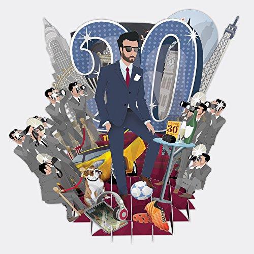 """30TODAY"" Top of the World 3D Pop-Up Grußkarte"