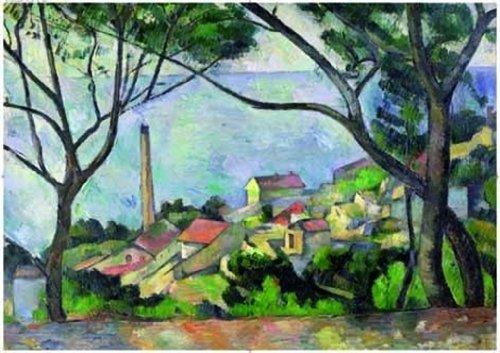 Editions Ricordi 6001N33014 - Puzzle de 2000 Piezas del Cuadro Vista del Estanque de Paul Cezanne
