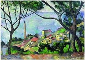 Editions Ricordi 3001N27015 - Puzzle de 2000 Piezas del Cuadro Vista del Estanque de Paul Cezanne