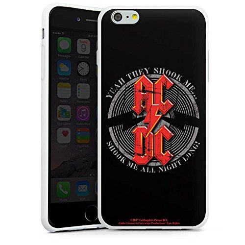 Apple iPhone 5c Silikon Hülle Case Schutzhülle ACDC All night long Merchandise Fanartikel Silikon Case weiß