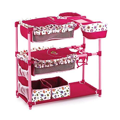 Preisvergleich Produktbild Hauck D91893 - Zwillingspuppen-Spielcenter, flower burgundy