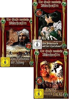 Die grosse russische Märchenwelt - 3er Package - Das Geheimnis der Festung; Die Prinzessin mit der Eselshaut; Finist, heller Fa