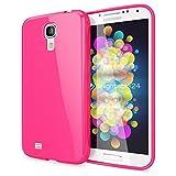 NALIA Handyhülle für Samsung Galaxy S4, Ultra-Slim TPU Silikon Jelly Case Hülle, Dünnes Cover Gummi Schutzhülle Skin, Etui Handy-Tasche Backcover Bumper für Samsung S4 Smart-Phone - Pink