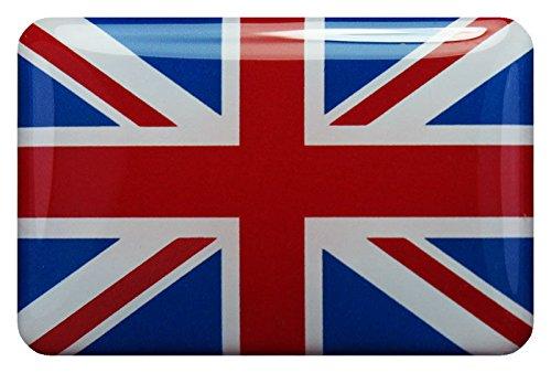 Preisvergleich Produktbild 3D Kfz-Aufkleber Sticker 6 x 4 cm (gedomt) Flagge Großbritannien (Union Jack) (R60)