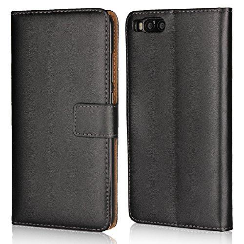 Copmob Xiaomi Mi Note 3 Hülle Handyhülle Mi Note 3 [Premium Leder] [Standfunktion] [Kartenfach] [Magnetverschluss] Schlanke Leder Brieftasche für Mi Note 3 Schwarz