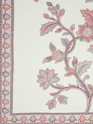 Weavers Villa Women's Wool Shawl (WV-404- White_L)