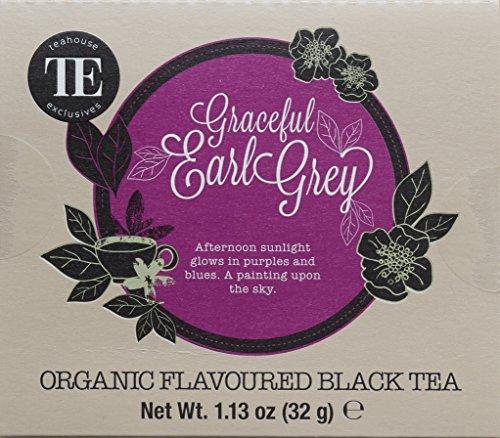TE - Teahouse Exclusives Organic Tea Graceful Earl Grey 16 Beutel, 2er Pack (2 x 32 g)