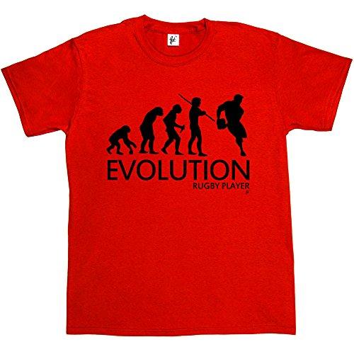 Camiseta diseño 'Evolución de un jugador de rugby' para hombre, camiseta de manga corta de algodón - Varios colores–tallas S M L y XL 2X L XXL 3X L XXXL