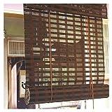JIANFEI-Bambusrollo raffrollo Lichtfilterung Trennwand Vorhang Rollo Hölzerne Spur Hebesystem, 3 Farben, 23 Größen Unterstützung Anpassung (Farbe : A, größe : 100x120cm)