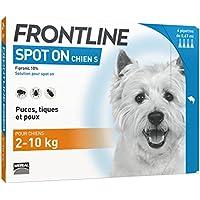 FRONTLINE Spot-on Chien - Anti-puces et anti-tiques pour chien - 2-10kg - 4 pipettes