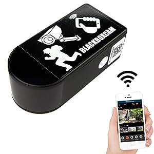 Telecamera di sicurezza WiFi con obiettivo ruotabile a 180° Si può utilizzare tramite l'app / Grandangolo Full-HD 90° Telecamera WiFi IP con spia e memoria MicroSD fino a 128 GB / Rilevamento di movimenti con notifiche BlackBoxCam® (Rotate Mini)