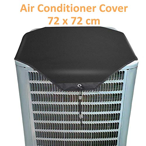 Abdeckung der Klimaanlage, Schutzhülle für den Außenbereich, Staubnetz, Abdeckung der Wechselstromeinheit Klimaanlage Top-Klimaanlage Blattschutz Klimaanlage Abdeckung Von BZLine (72 x 72 cm, Oxford)