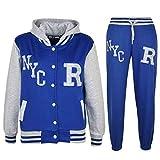 Kids Girls Boys Baseball Tracksuit NYC FOX - T.S Baseball NYC Royal & Grey 5-6