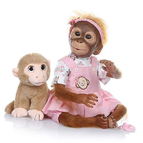 ZIYIUI lebensechte 52 cm 21 Zoll Babypuppe Reborn Baby AFFE handgemachte detaillierte Farbe neugeborenen Puppe sammeln Kunst Puppe mädchen Jungen Spielzeug für Kind Geschenk