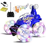Magicwand® R/C Rechargeable 360 Degree Twisting Stunt Car With Music & Lights For Kids (Multi-Colored)