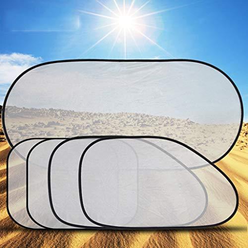 LKW-Sonnenschutz, fünfteiliger Anzug Mesh Shade Sonnenschutz Anti-UV-Sonnenblende Car Insulation Silver Sunshade Fold Sun Visor (Color : Silver) - Reduzierung-anzug