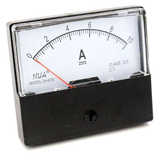 Heschen Single Panel Mounted Strom Meter Amperemeter Tester DH 670 DC 10 A Klasse 2.0 -