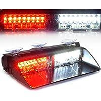 16 luces LED de policía y emergencias de alta calidad XINGHAO. Advertencia por luces estroboscópicas para techos interiores / salpicadero / parabrisas con ventosas