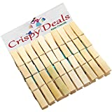Wooden Clips Bamboo Cloth Pegs Set of 24...