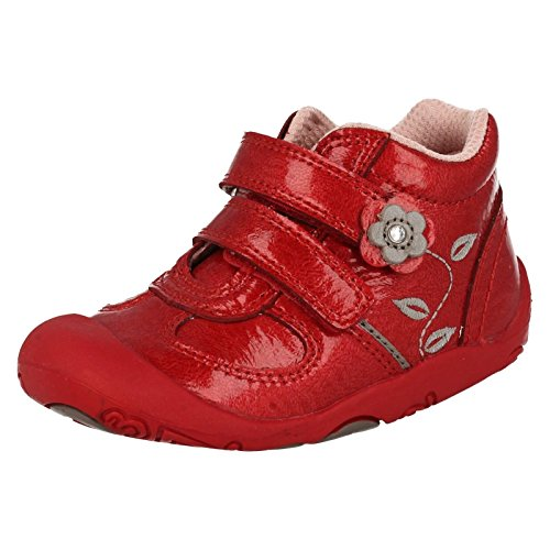 Infant Girls Startrite First Stiefel GO, Rot - rotes Leder - Größe: 36 EU