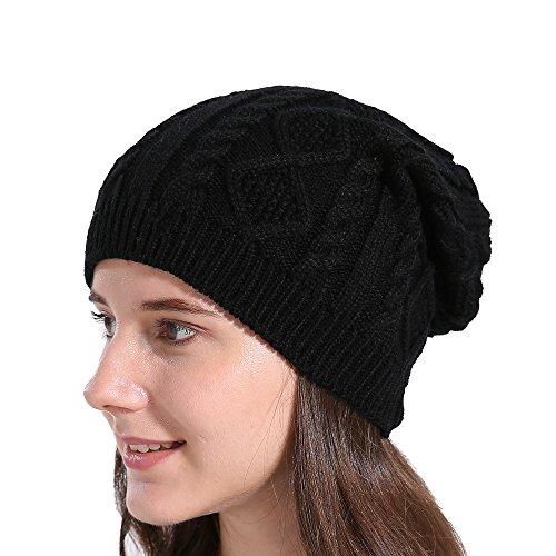 2caeaa36105 JUTOO Mens Trapper hat Cap hat Womens hat Women Baggy Warm Winter Wool Knit  Ski Beanie