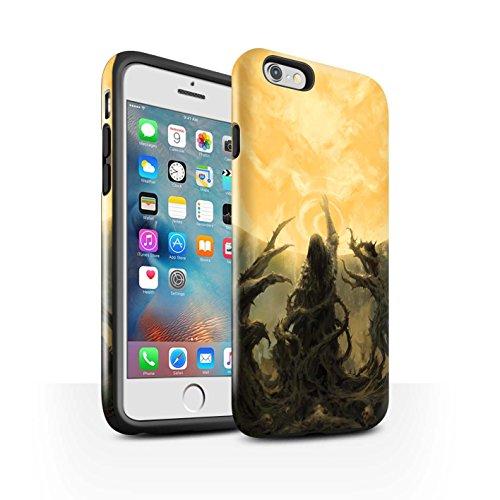 Offiziell Chris Cold Hülle / Glanz Harten Stoßfest Case für Apple iPhone 6S+/Plus / Hades/Phantom Muster / Unterwelt Kollektion Sonnengott/Reben