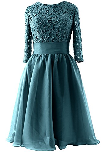 MACloth - Robe - Trapèze - Manches 3/4 - Femme Teal