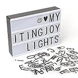 Leuchtkasten mit Deko Buchstaben USB-Anschluss Umweltschutzmaterial ABS Familie, Café, Bibliothek(Weiß + Schwarz)