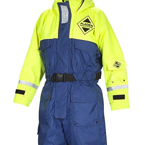 Fladen Rescue-System–Einem Stück blau und gelb, Scandia Schwinnanzug–Auftrieb und Thermo-Schutz–EN 393und iso-15027–1zertifiziert Blue and Yellow Small - 50 to 70kg - 160 to 167cm