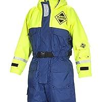 Fladen Rescue-System–Einem Stück blau und gelb, Scandia Schwinnanzug–Auftrieb und Thermo-Schutz–EN 393und iso-15027–1zertifiziert